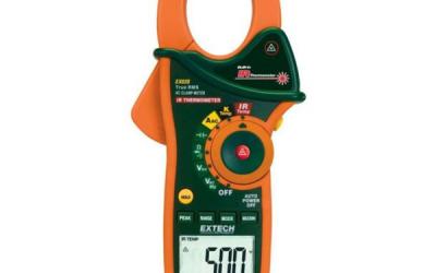 Alicate Amperímetro com Termômetro IR Extech modelo EX820