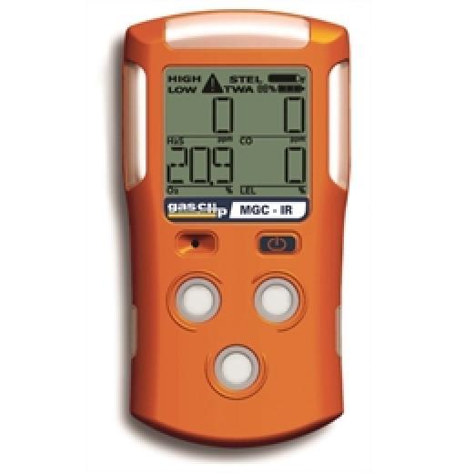 Detector de 4 Gases, LEL-O2-CO-H2S, Com Sensor LEL Infravermelho Gas Clip Modelo MGC-IR