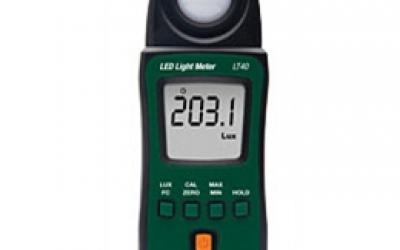 Luxímetro para Lâmpadas LED Brancas Extech modelo LT40