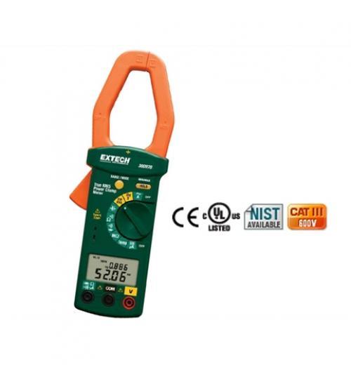 Medidor de fixação de potência AC 1000 A de fase única/três fases Extech Mod 380976