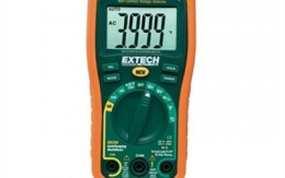 Mini-multímetro 12 funções e detector de tensão sem contato - Extech EX-330