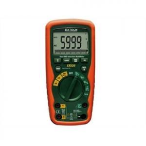 Multímetro industrial true RMS para serviços pesados com 11 funções Extech EX-520