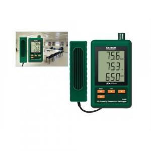 Registrador de dados de CO2 umidade temperatura Extech modelo SD-800