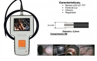 Sonda de fibra ótica com monitor CG-5550