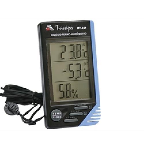 Termo-higrometro Temperatura Interno e externo Minipa - modelo MT-241