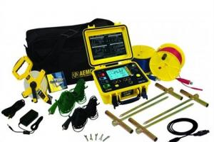 Medidor de Resistência de Aterramento AEMC Modelo GroundFlex Kit