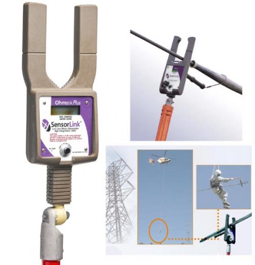 Microhmímetro para Linha Viva OHMSTIK Plus Sensorlink modelo 8-082 Plus